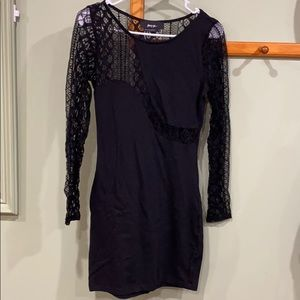 Never worn black lace mini dress